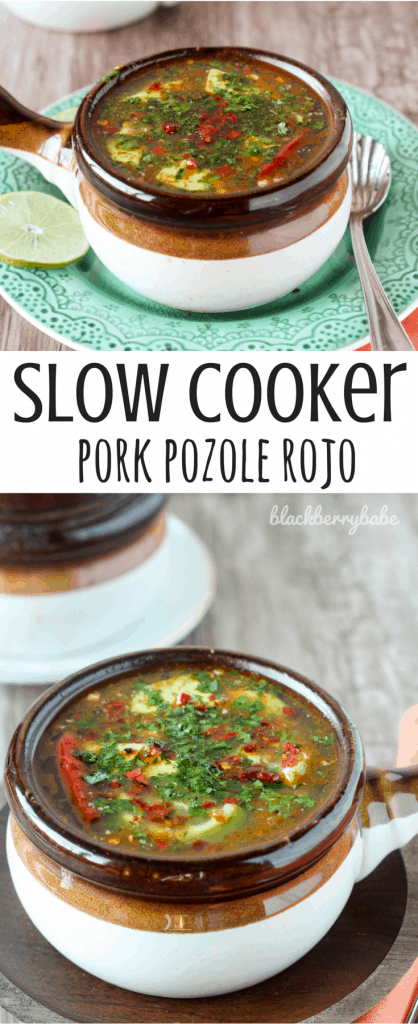 Slow Cooker Pork Pozole Rojo