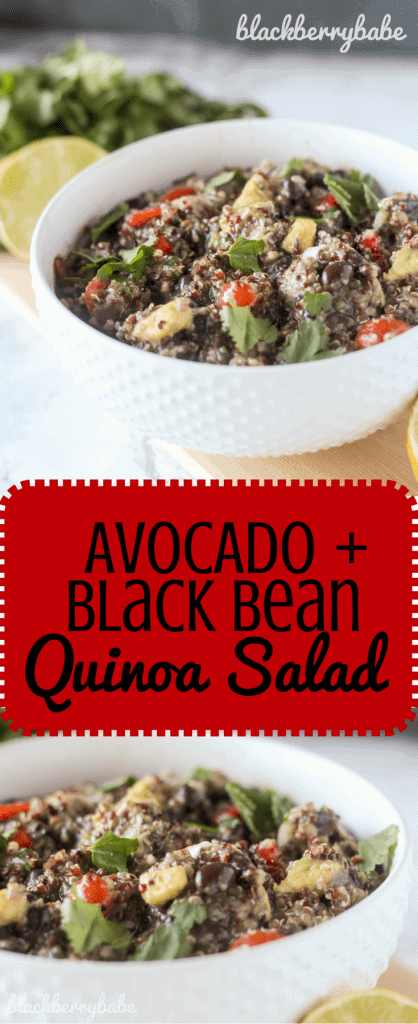 Avocado Black Bean Quinoa Salad