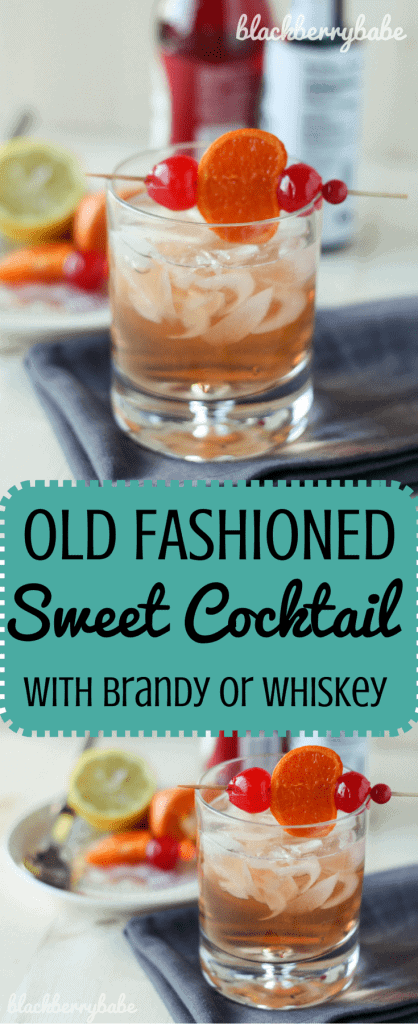 Old Fashioned Sweet Cocktail with Brandy or Whiskey (1)