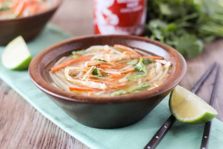 Slow Cooker Thai Chicken Noodle Soup + charity:water #40POUNDS Challenge