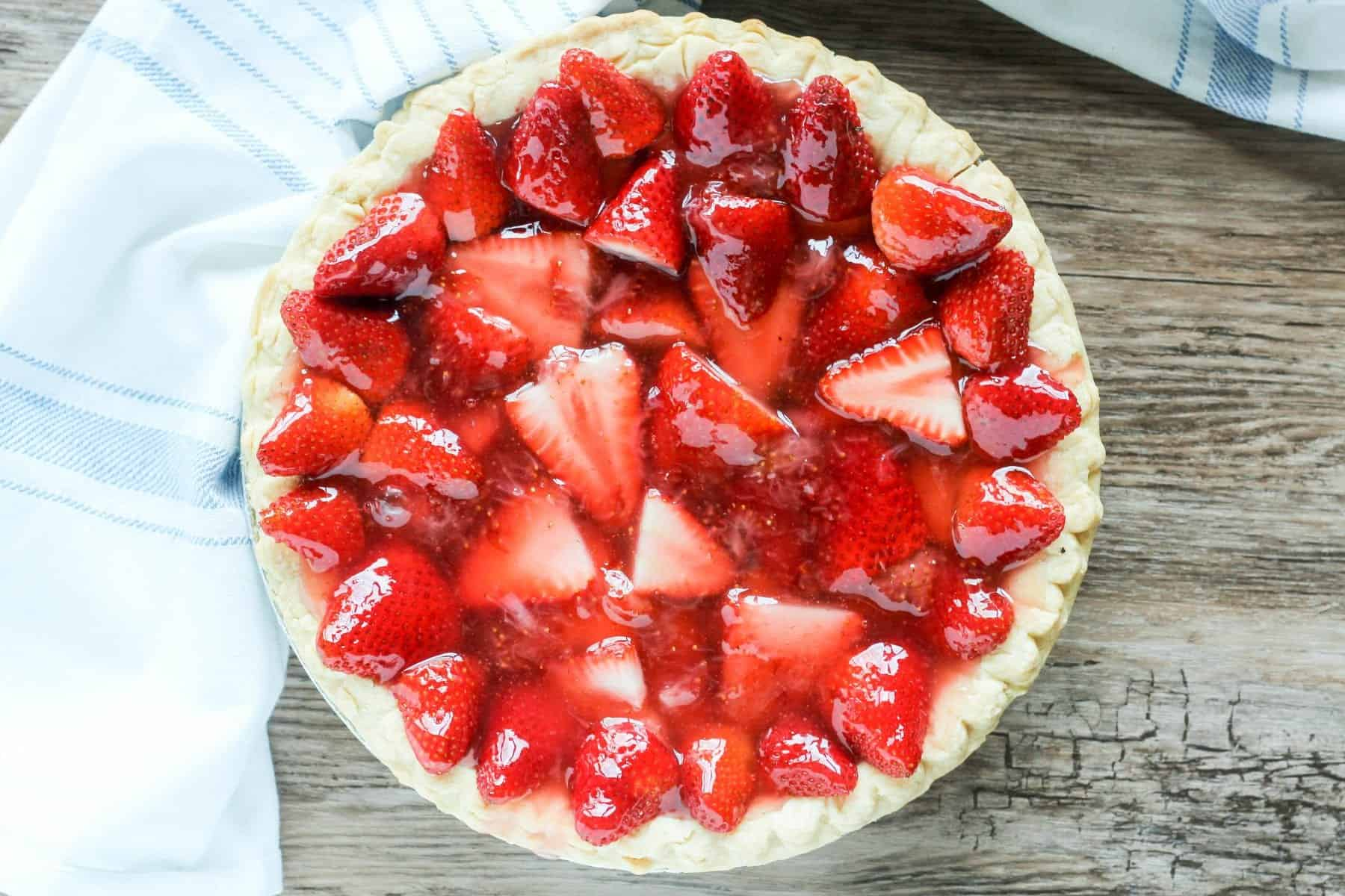 Deep Dish Strawberry Pie Made with Ginger Ale