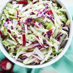 Cabbage Apple Radish Slaw