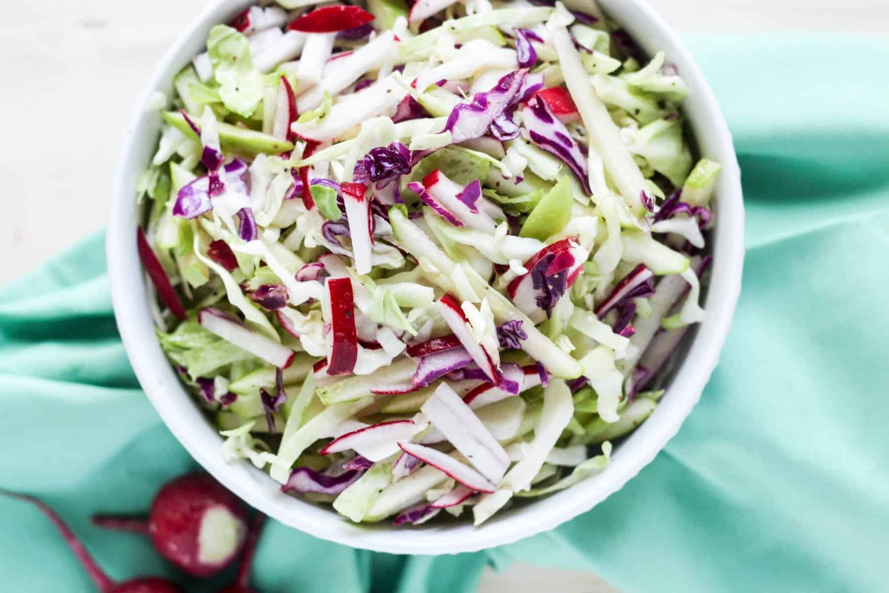 Cabbage Apple Radish Slaw