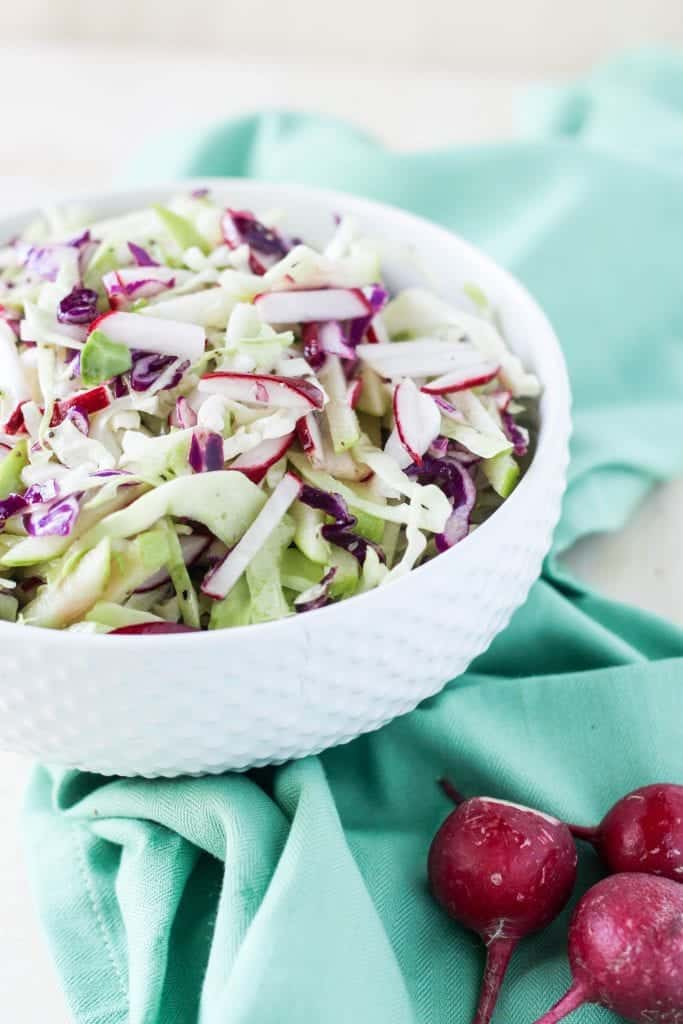 Cabbage Apple Radish Slaw 2