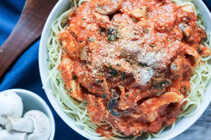 Chicken Pasta with Rosa Sauce
