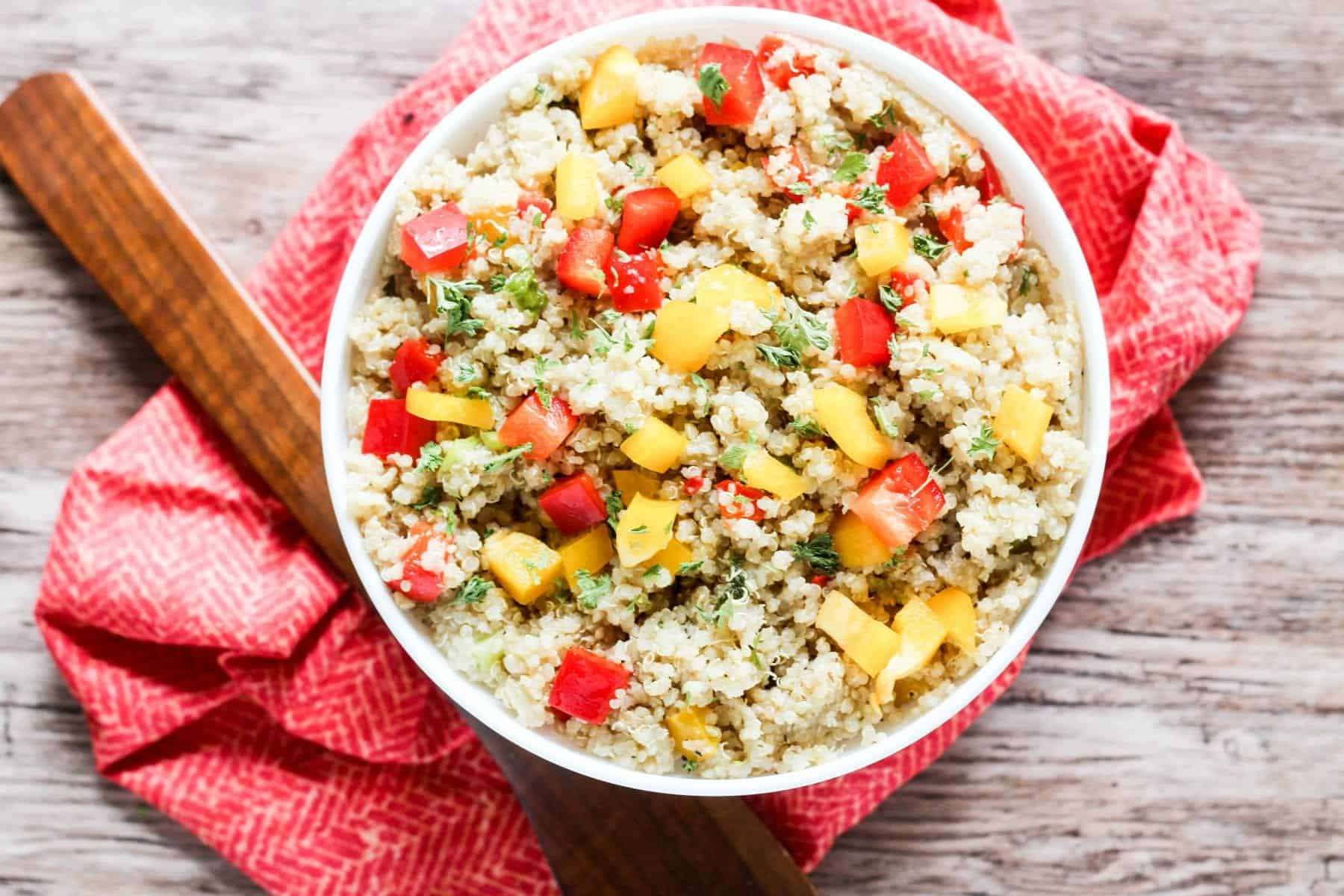Easy Quinoa Pilaf with Bell Peppers