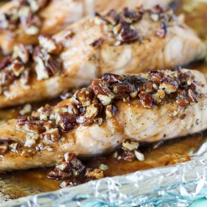 Praline Glazed Salmon