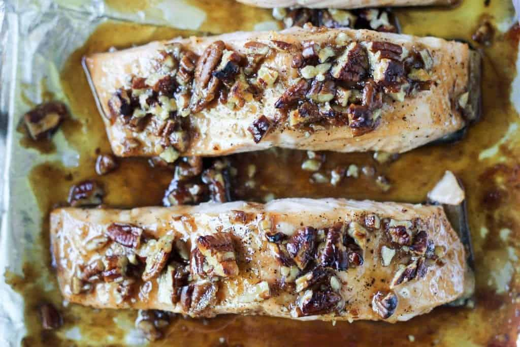 Glazed Praline Salmon
