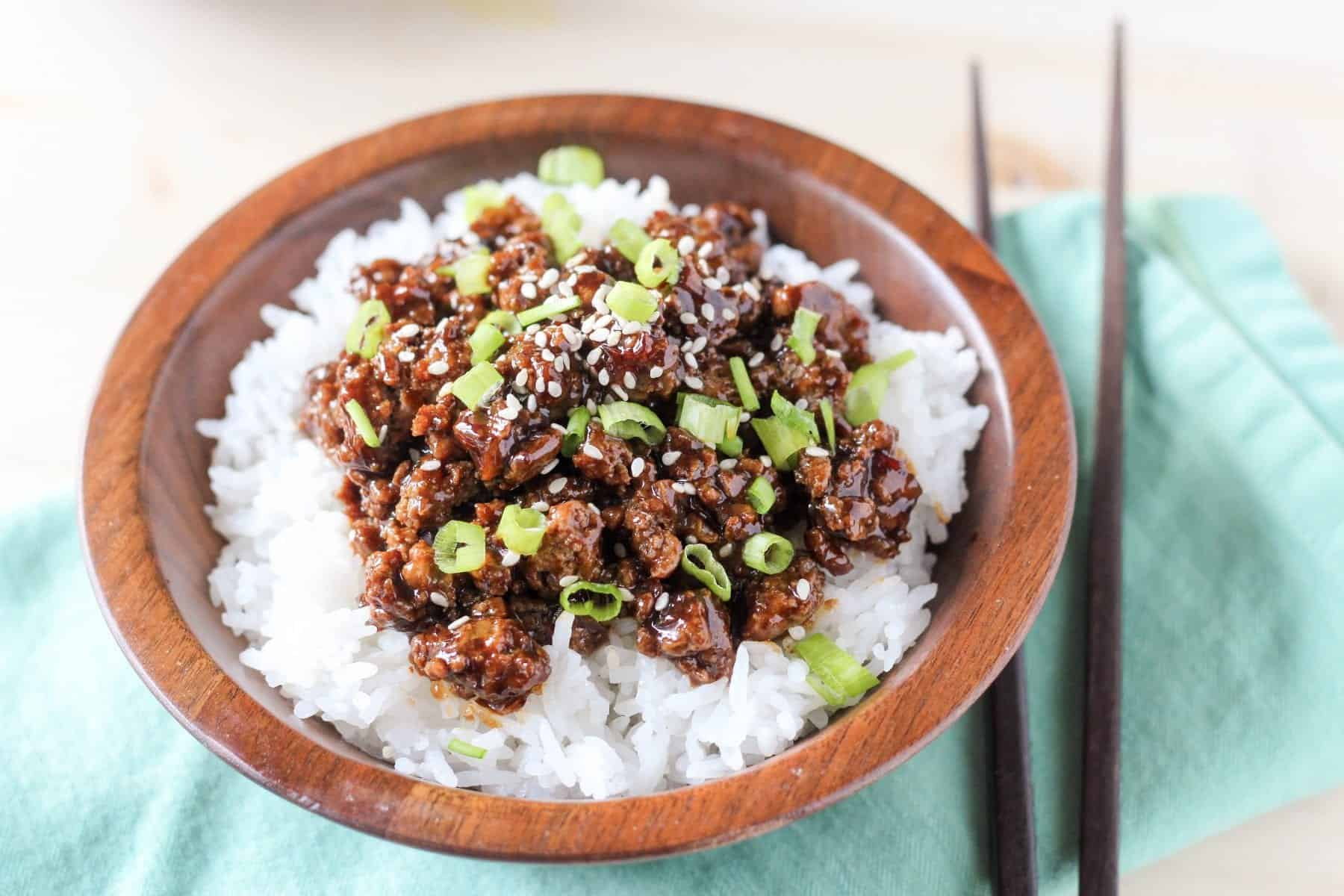 Sweet Chili Chicken Rice Bowl Recipe — Dishmaps