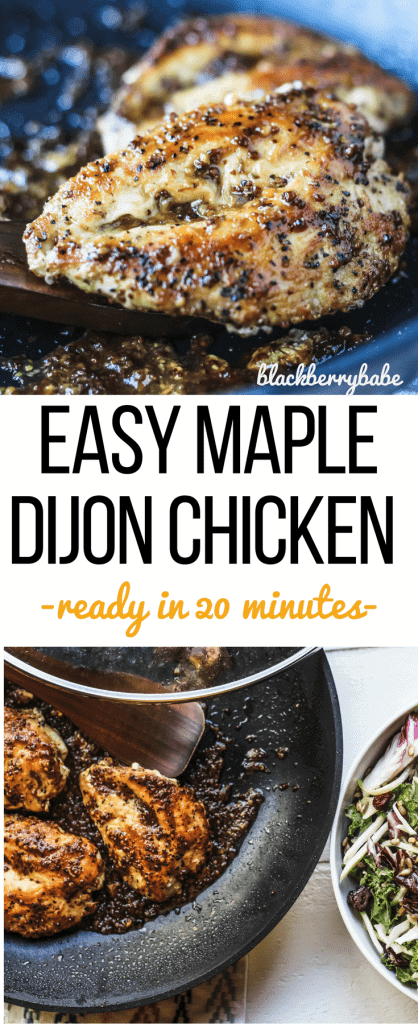 Easy Maple Dijon Chicken, ready in just over 20 minutes in your skillet!