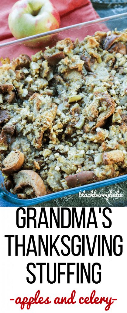 Grandma's Thanksgiving Stuffing Recipe