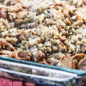 Easy Thanksgiving Stuffing with Apples and Celery