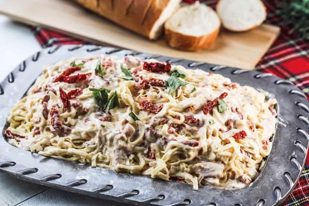 Chicken Pasta with Garlic Parmesan White Sauce