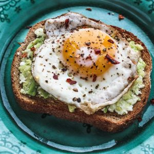 Avocado Toast with Fried Egg, Avocado Toast with Egg