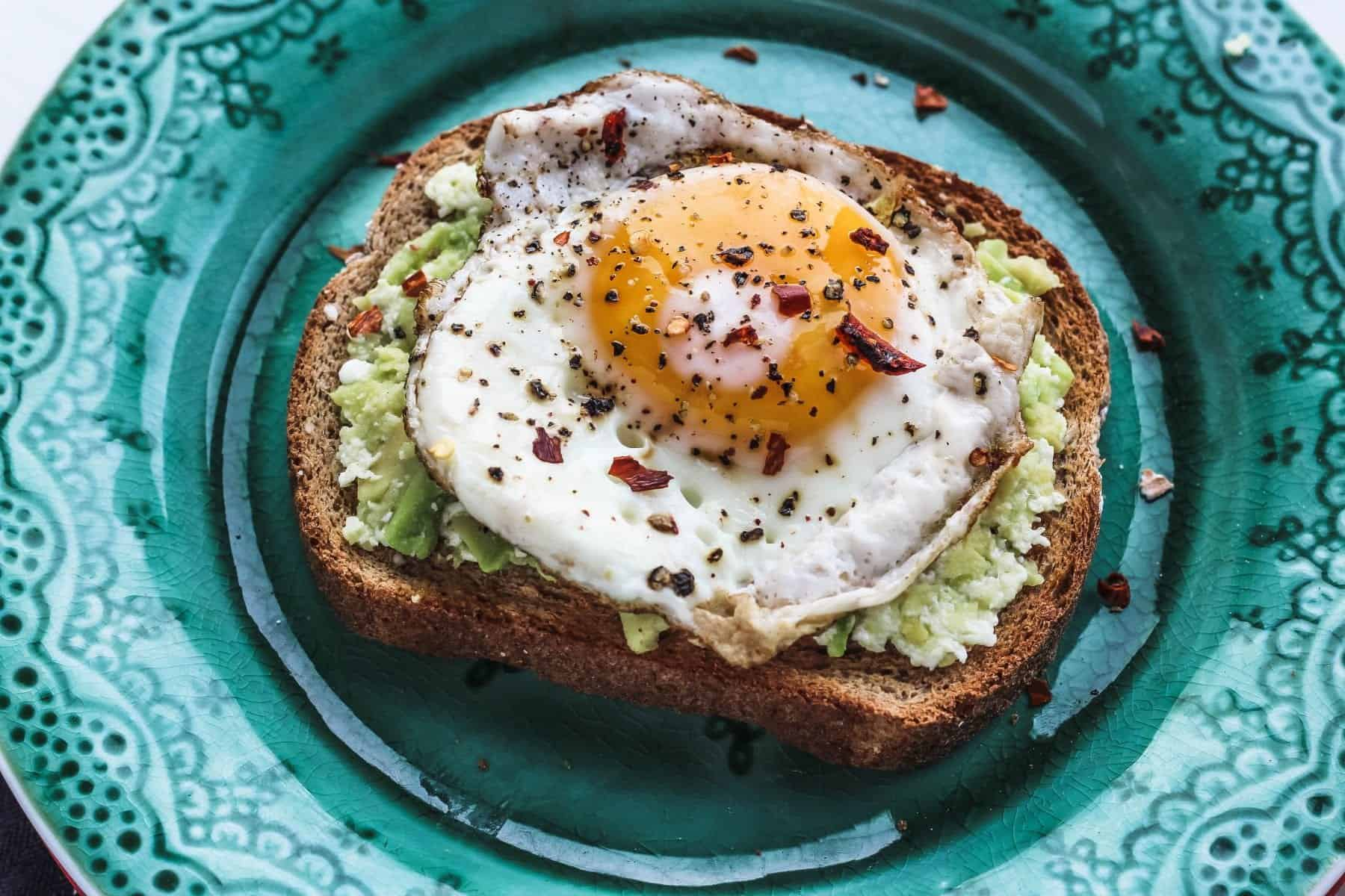 Avocado Toast with Fried Egg, Avocado Toast with Egg
