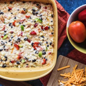 Fresh Mexican Corn Casserole