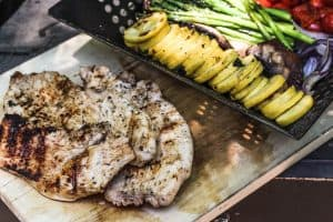 Italian Grilled Turkey Breast and Vegetables