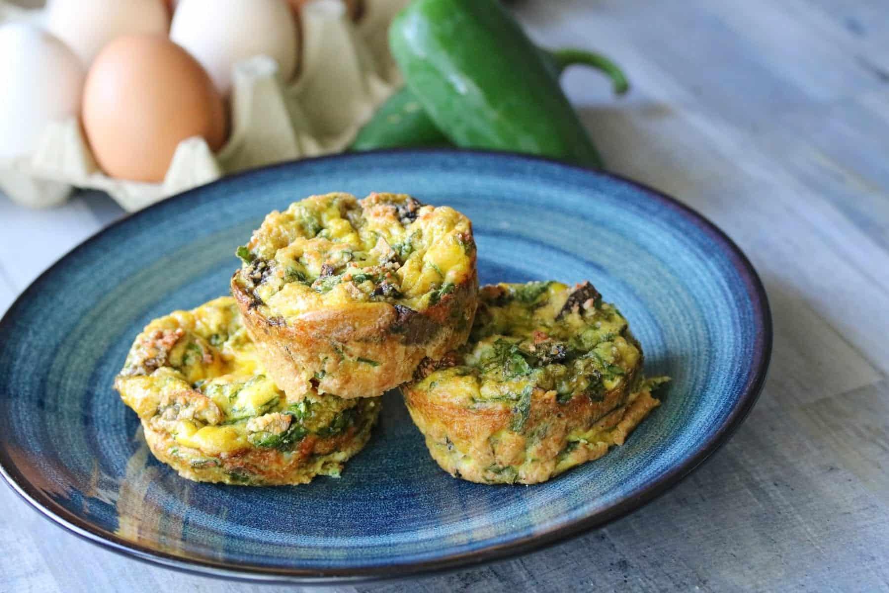 Healthy Egg Muffins Vegetarian