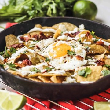 Bacon and Egg Chilaquiles Verdes