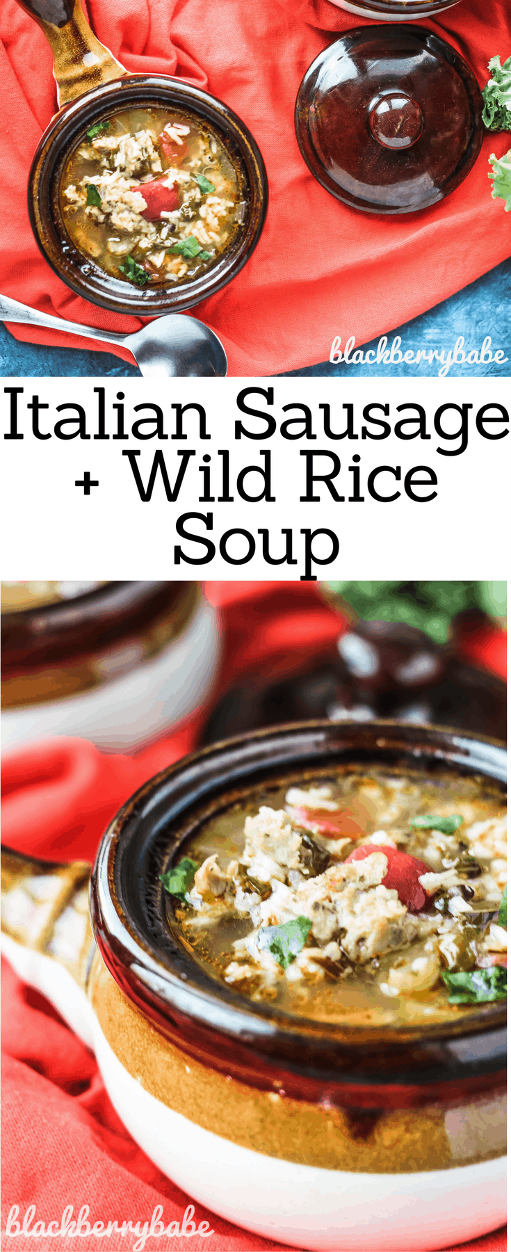 Sausage and Wild Rice Soup with Collard Greens