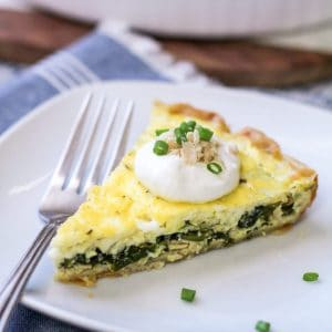 Easy Salmon Quiche with Spinach