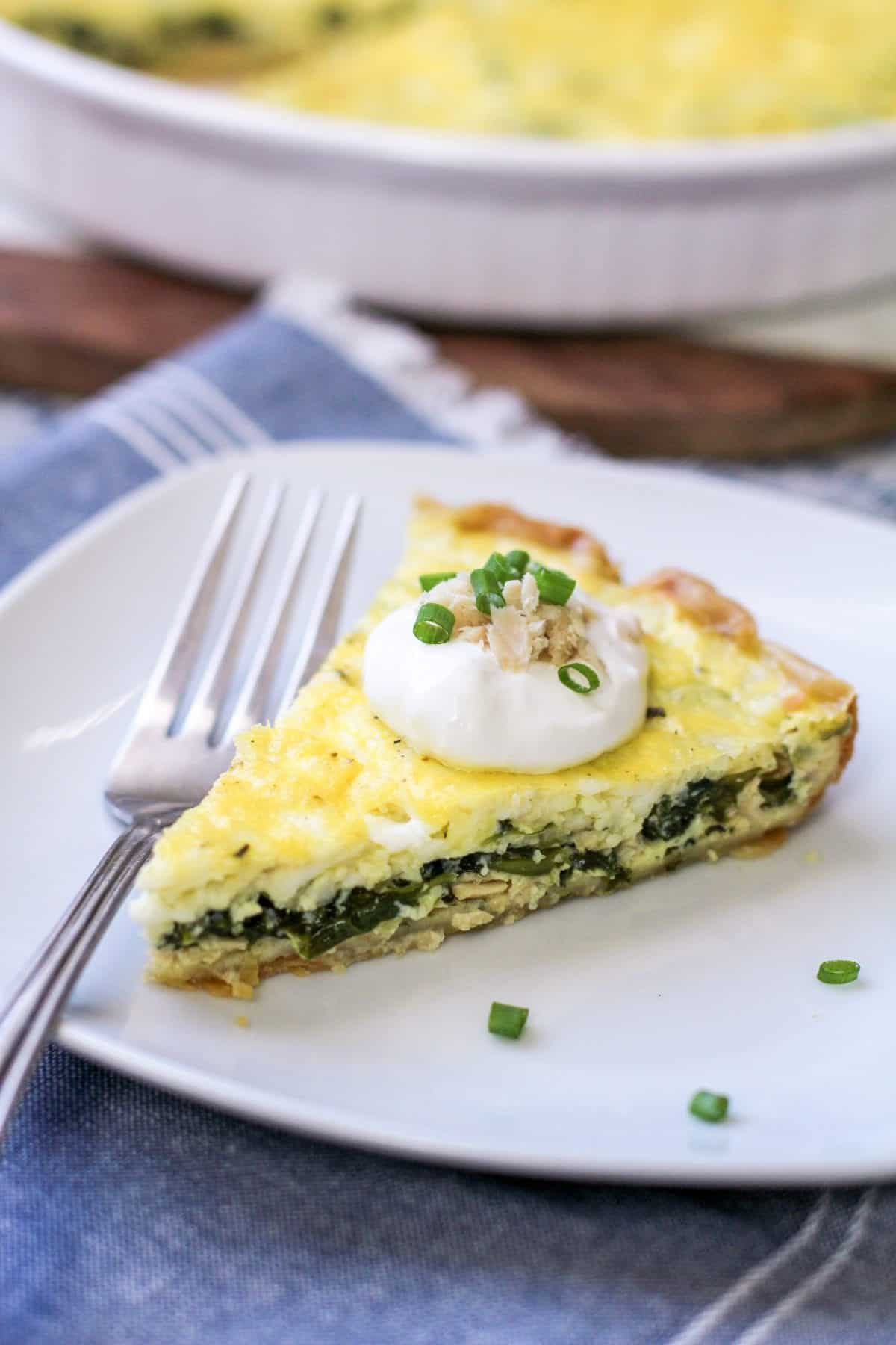 Easy Spinach Quiche with Spinach