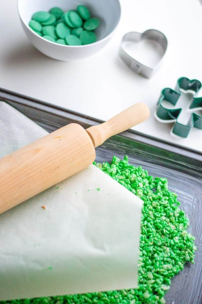 St. Patrick's Day Rice Krispie Treats