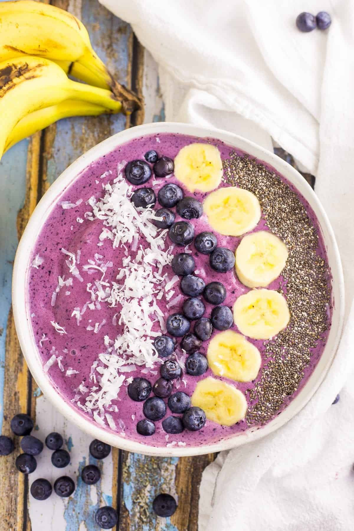 Blueberry Smoothie Bowl Blackberry Babe