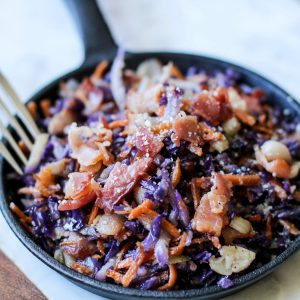 Fried Cabbage with Bacon (Keto Salad)