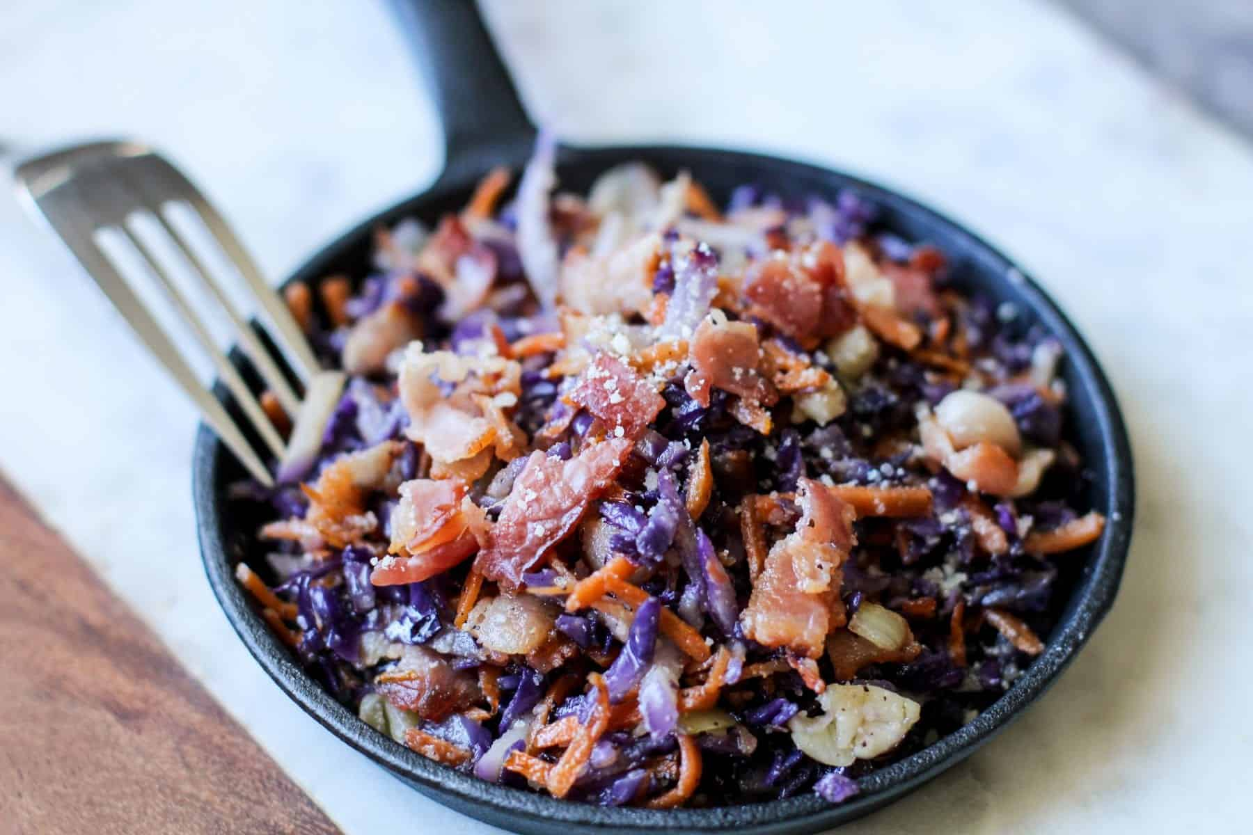 Fried Cabbage With Bacon Keto Low Carb Fried Cabbage Recipe