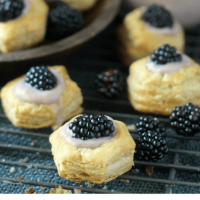 Blackberry Almond Custard Cups