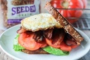 B.E.L.T. Bacon Egg Lettuce Tomato Sandwich