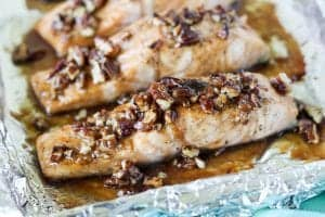 Praline Glazed Salmon