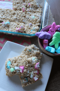 Easter Marshmallow Treats with Peeps