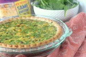 Deep Dish Mushroom, Chicken and Spinach Quiche