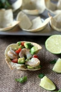 Shrimp and Avocado Ceviche Cups