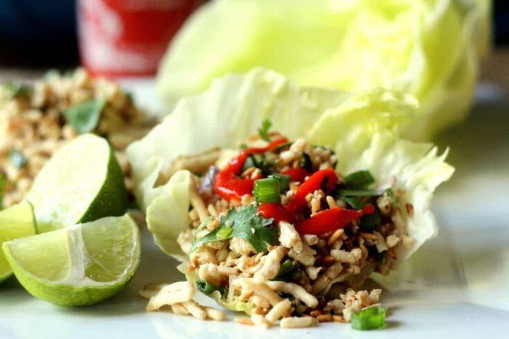 Vietnamese Chicken Lettuce Wraps (Larb)