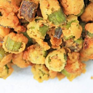 Crispy Fried Okra | Fried Okra | Deep Fried Okra | Pan Fried Okra | Oven Fried Okra | #okra #okrarecipes #friedokra