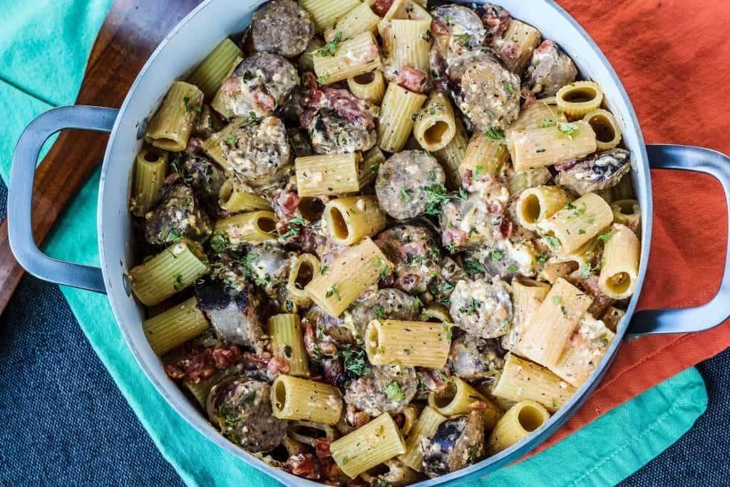 Easy Bratwurst Pasta- Top 5 Dinner Recipes on Blackberry Babe