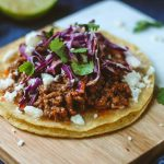Adobo Ground Beef Tostadas
