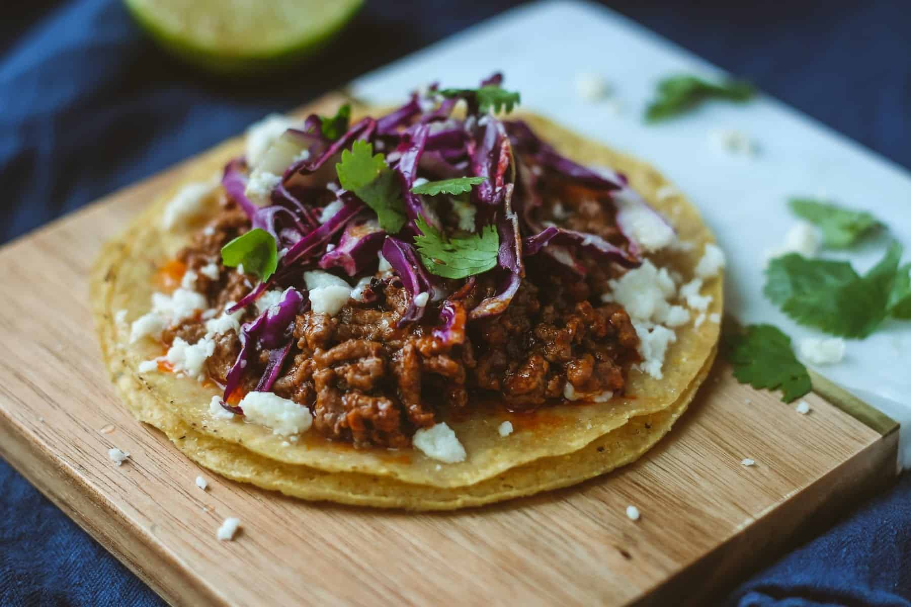 Adobo Ground Beef Tostadas Blackberry Babe