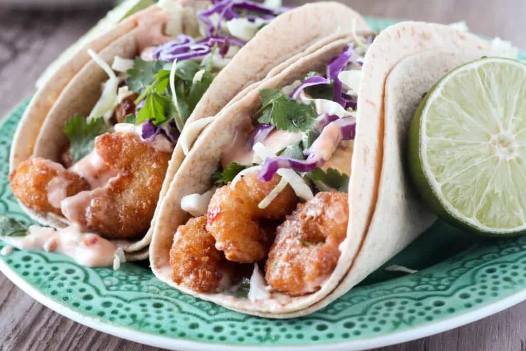 Sweet Chili Shrimp Tacos- Top 5 Most Popular Dinners on Blackberry Babe