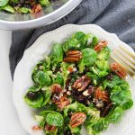 Cranberry Pecan Brussels Sprouts Salad