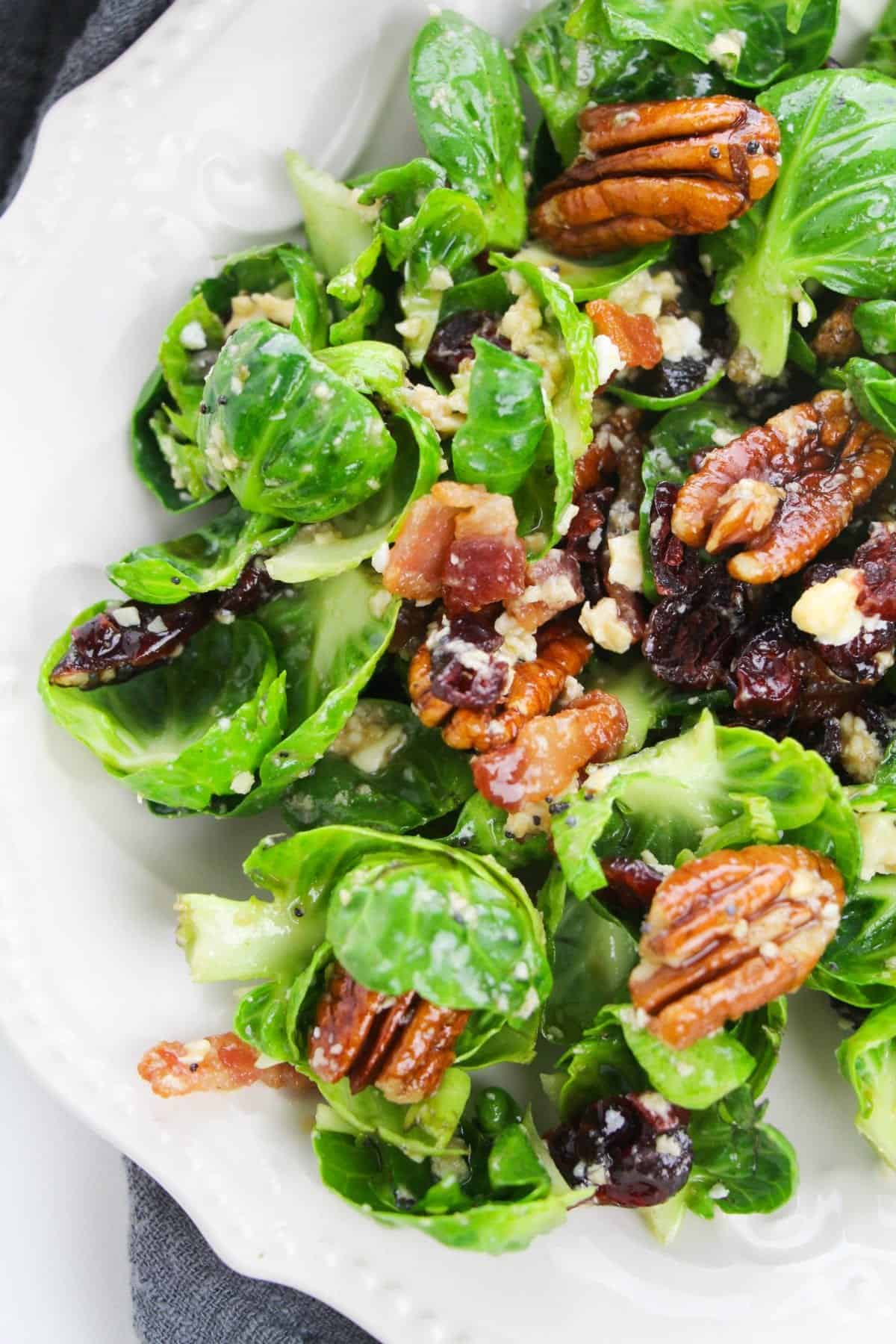 Cranberry Pecan Brussels Sprouts Salad Blackberry Babe