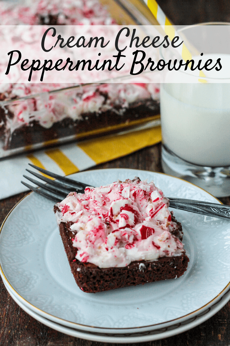 Cream Cheese Peppermint Brownies