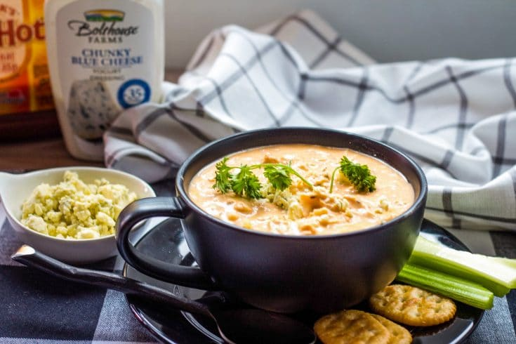 Buffalo Chicken Soup - Chicken Wing Soup