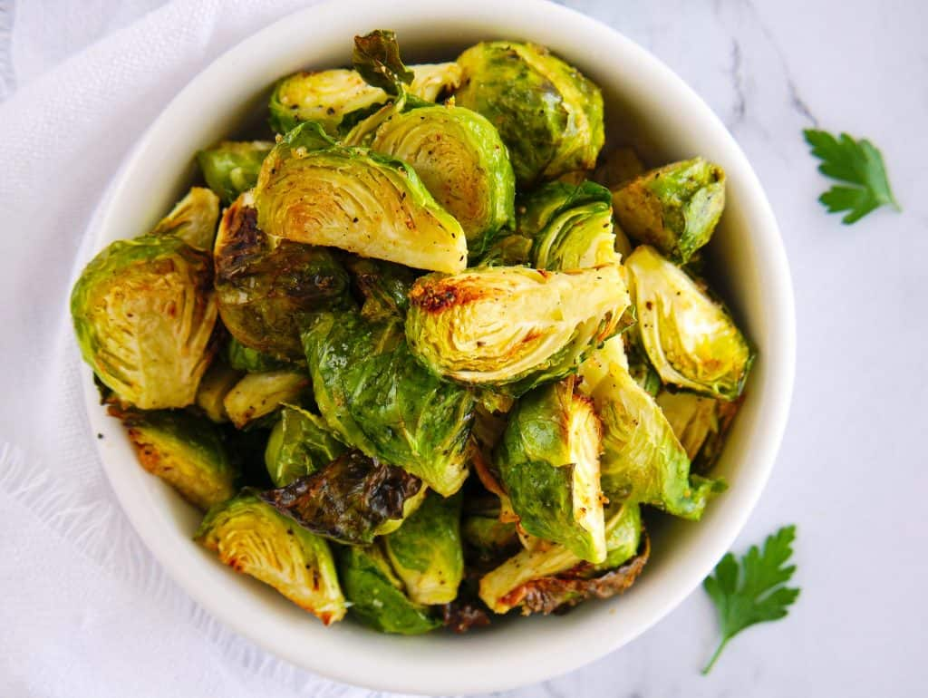 Air Fryer Brussels Sprouts | Crispy Brussels Sprouts