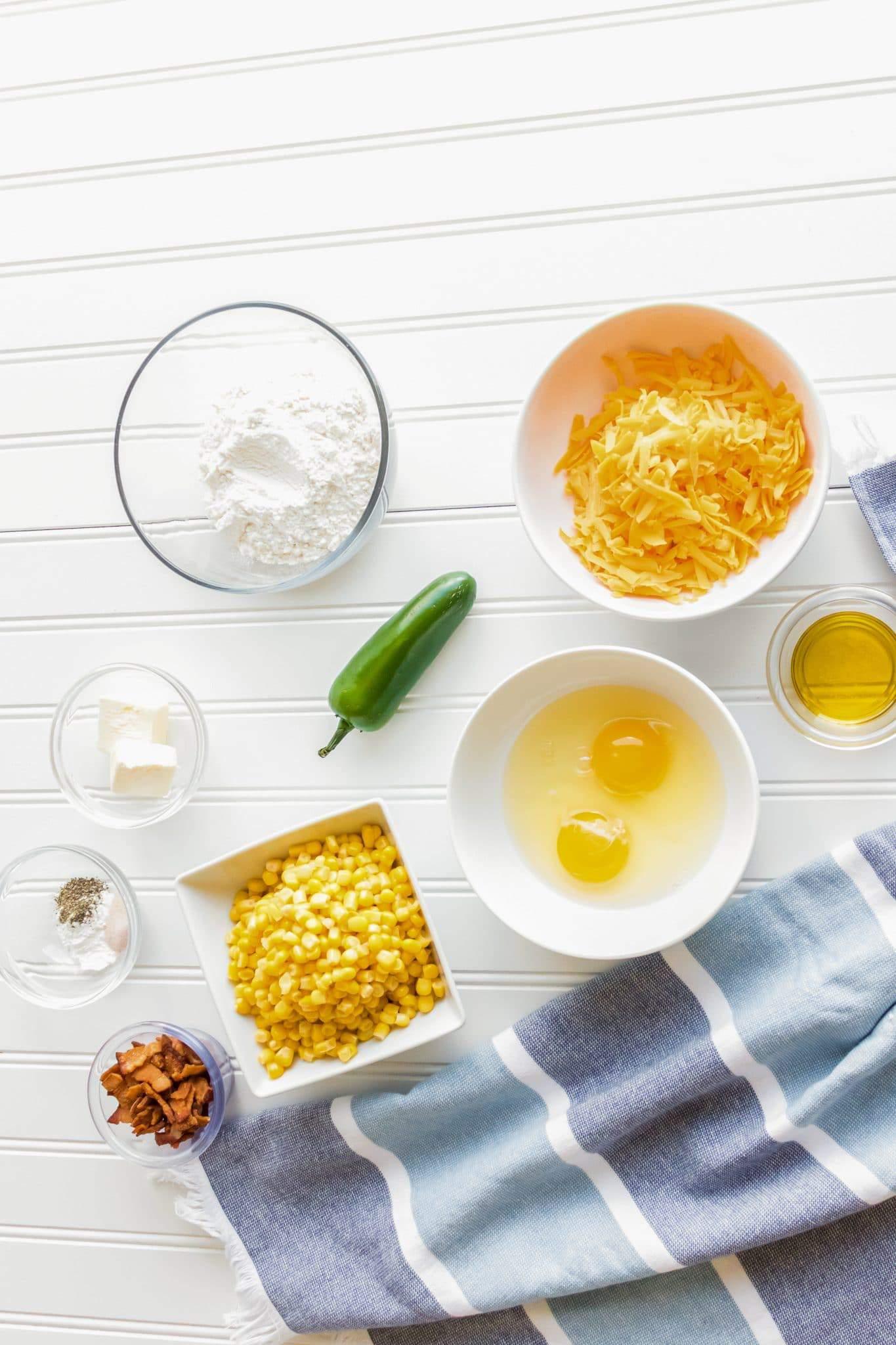 Crispy Corn Cakes Ingredients