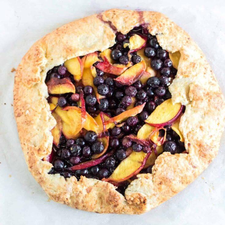 Berry Peach Galette
