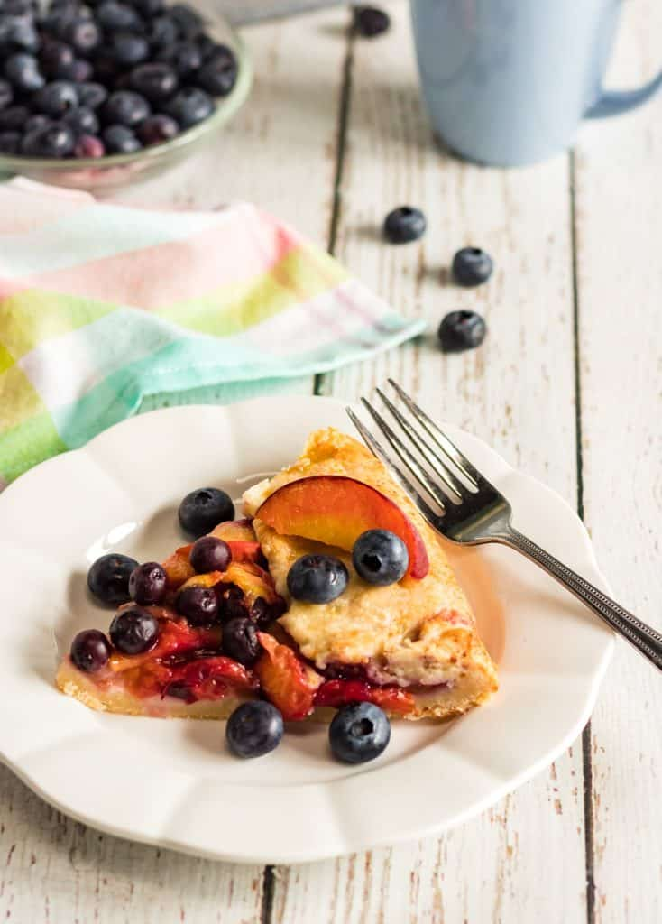 Easy Berry Peach Galette